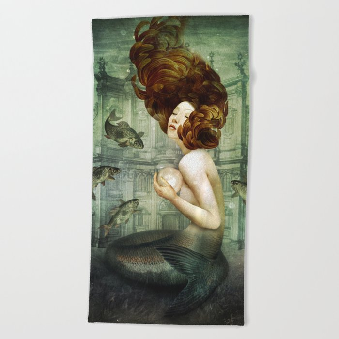 The Mermaid´s Pearl Beach Towel