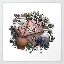 Alchemist D20 Tabletop RPG Gaming Dice Art Print