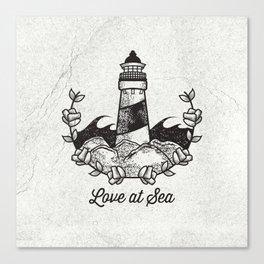 Love at Sea Canvas Print