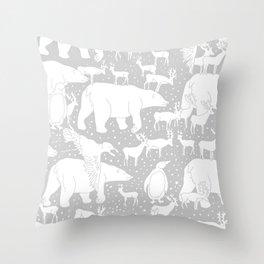 Polar gathering (latte) Throw Pillow