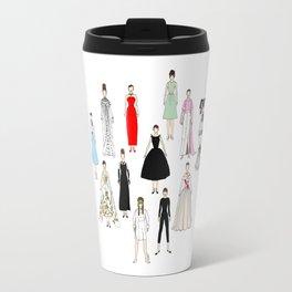 Audrey Fashion Whimsical Layout Travel Mug