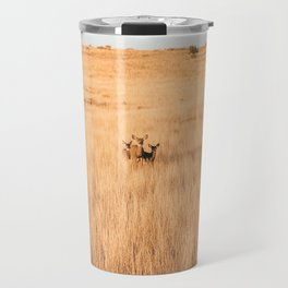 Deer In Formation at Zion National Park Travel Mug