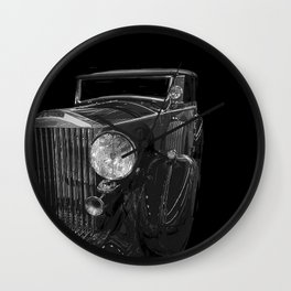 Old Classic Car Square Poster Wall Clock