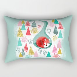 Winter's Fox by Andrea Lauren  Rectangular Pillow
