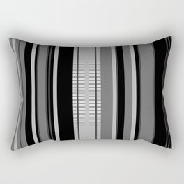 Vertical Stripes # 1 in black, gray and white Rectangular Pillow