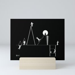 Stickmen in Lisbon Mini Art Print