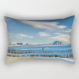 Rockaway Beach Queens New York Landscape Rectangular Pillow