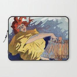 Kerosene oil  by Jules Cheret Laptop Sleeve