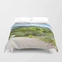 running Duvet Covers featuring Running  by Julie Luke