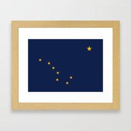 Flag of Alaska Framed Art Print