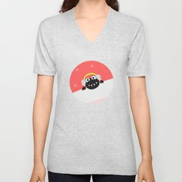 Cute Winter Bug With Earflaps Unisex V-Neck