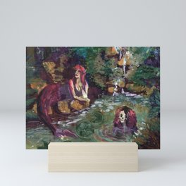 mermaid zodiac: gemini Mini Art Print