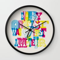 quote Wall Clocks featuring Quote by Roberlan Borges