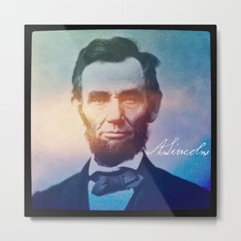 Stand Firm. Lincoln. 1809-1865. Metal Print