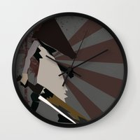 silent hill Wall Clocks featuring Pyramid Head - Silent Hill by BatSpats