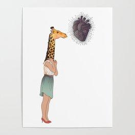 Giraffe Girl Poster