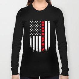Patriotic Hockey Player - Flag Long Sleeve T-shirt
