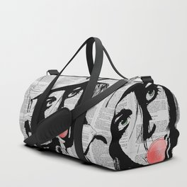 Bubble gum colorized Duffle Bag