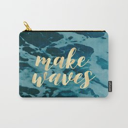 Make Waves in Gold Carry-All Pouch
