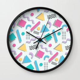 Memphis Shapes Wall Clock