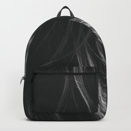 'Nicky with the Black Coat On' - Female Portrait black and white photograph Backpack