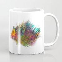 hedgehog Mugs featuring hedgehog by jbjart