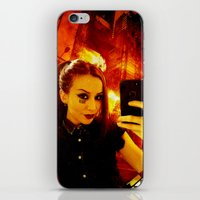 selfie iPhone & iPod Skins featuring Selfie by Danielle Tanimura