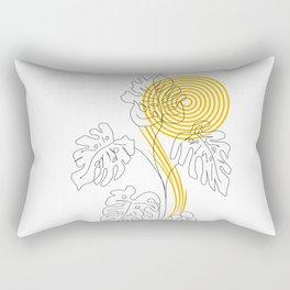 Monstera line Art Rectangular Pillow