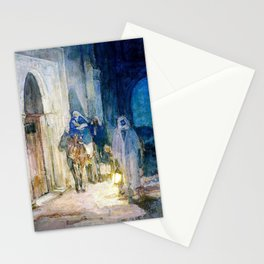 12,000pixel-500dpi - Henry Ossawa Tanner - Flight into Egypt - Digital Remastered Edition Stationery Cards