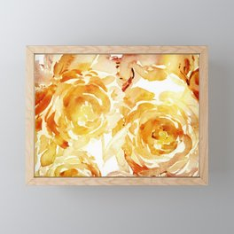 Sunny Day Painterly Floral Abstract Framed Mini Art Print