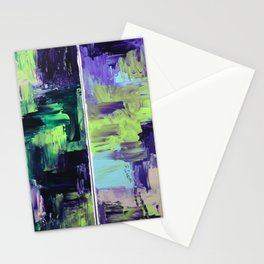 Violet & Green On A Rainy Day Stationery Cards