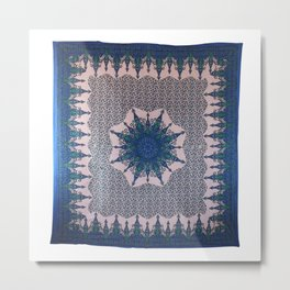 Indian Psychedelic Mandala Tapestry Metal Print