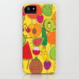 Veggies Fruits iPhone Case