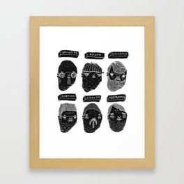 Black heads Framed Art Print
