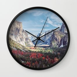 Tunnel View Yosemite Valley Wall Clock