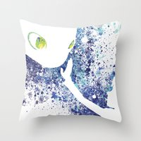 how to train your dragon Throw Pillows featuring How to Train Your Dragon by Kyle Samuel