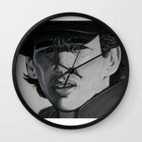 senna Wall Clocks featuring Ayrton by Valeria Natale