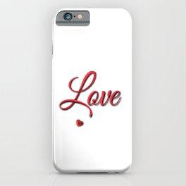 Love2 iPhone Case