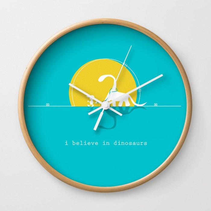 i believe in dinosaurs Wall Clock
