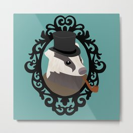 Dapper Badger Metal Print