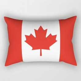 Red and White Canadian Flag Rectangular Pillow