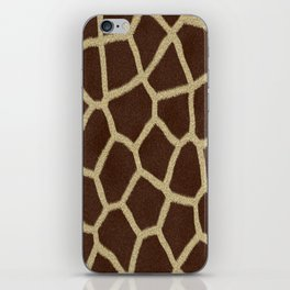 primitive safari animal brown and tan giraffe spots iPhone Skin