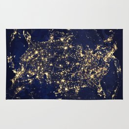 Gold map Rug