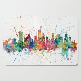 Houston Texas Skyline Cutting Board