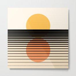 Abstraction_NEW_SUNSET_REFLECTION_HORZON_POP_ART_0339A Metal Print