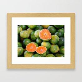 Green Mandarines Framed Art Print
