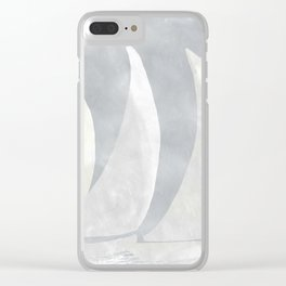 Sailboat Race, Sailing Art, Nautical Art Clear iPhone Case