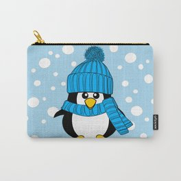 Cute Baby Penguin with Blue Hat Carry-All Pouch