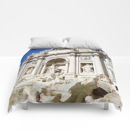 Make a Wish: Trevi Fountain in Rome, Italy Comforters