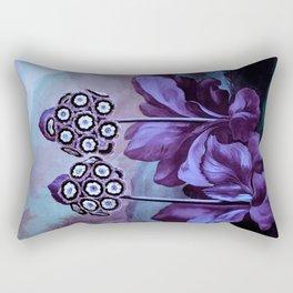 Lavender Blue Auriculas Temple of Flora Rectangular Pillow